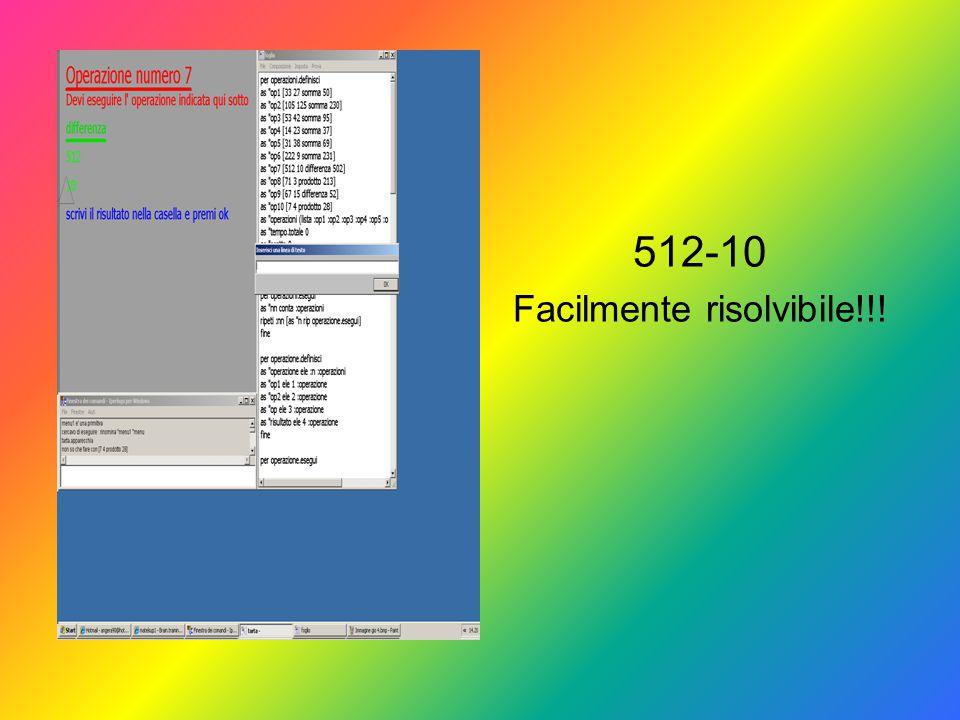512-10 Facilmente risolvibile!!!