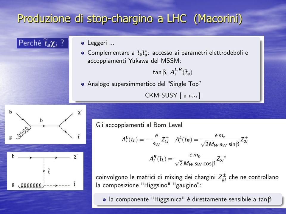 Produzione di stop-chargino a LHC (Macorini)