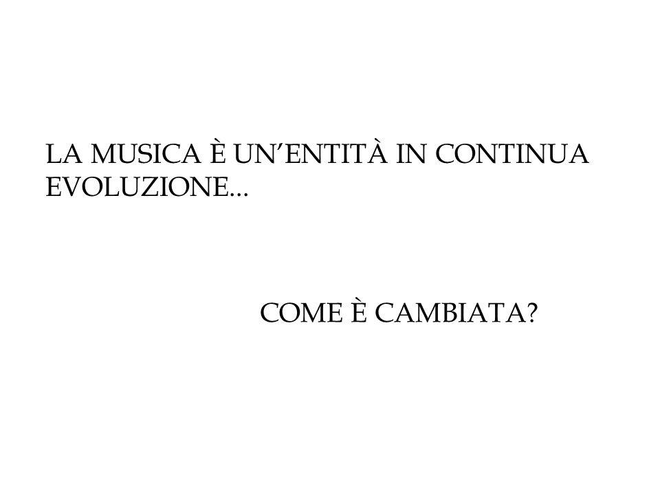 LA MUSICA È UN'ENTITÀ IN CONTINUA EVOLUZIONE... COME È CAMBIATA?