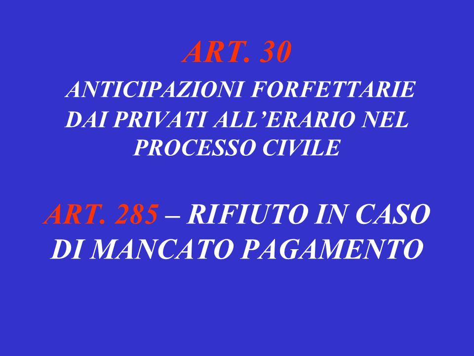 ESENZIONE DAL BOLLO E DAL CONTRIBUTO UNIFICATO – ART. 10 Processi di valore inferiore a euro 1033; Processo esecutivo mobiliare di valore inferiore a