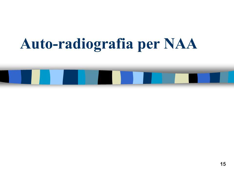 15 Auto-radiografia per NAA