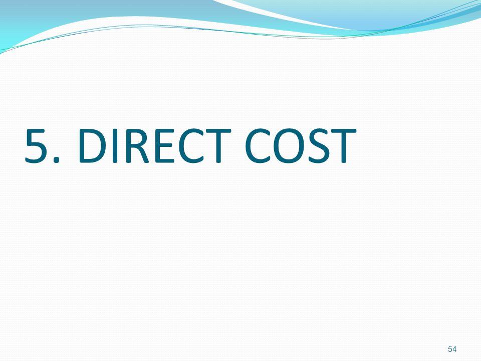 5. DIRECT COST 54
