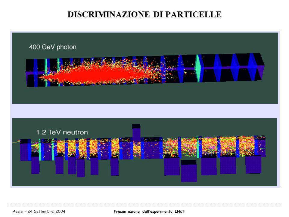 Assisi - 24 Settembre 2004Presentazione dell'esperimento LHCf DISCRIMINAZIONE DI PARTICELLE