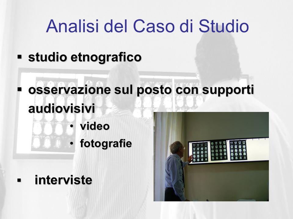 Analisi del Caso di Studio  studio etnografico  osservazione sul posto con supporti audiovisivi video video fotografie fotografie  interviste