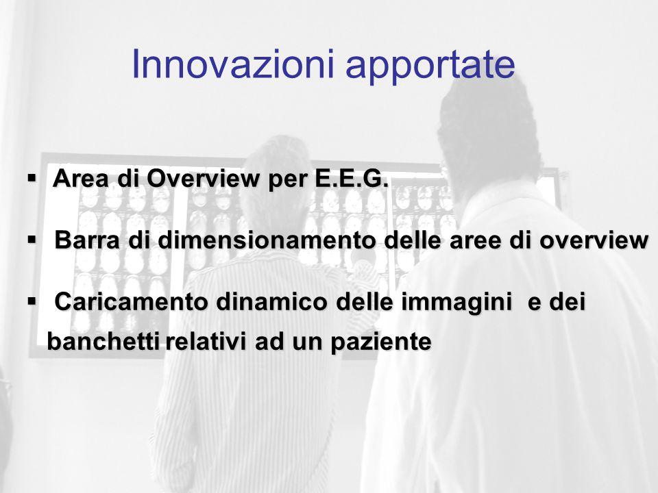 Nuovi strumenti di interazione Innovazioni apportate  Area di Overview per E.E.G.