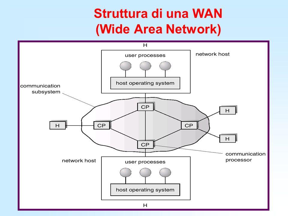 Struttura di una WAN (Wide Area Network)