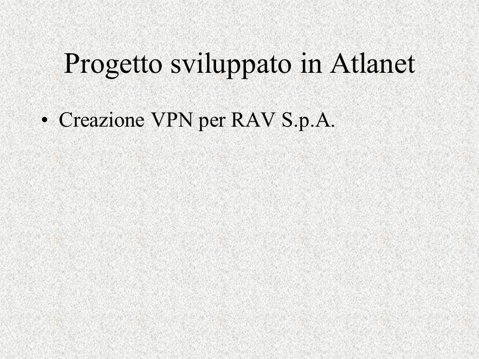 Progetto sviluppato in Atlanet Creazione VPN per RAV S.p.A.