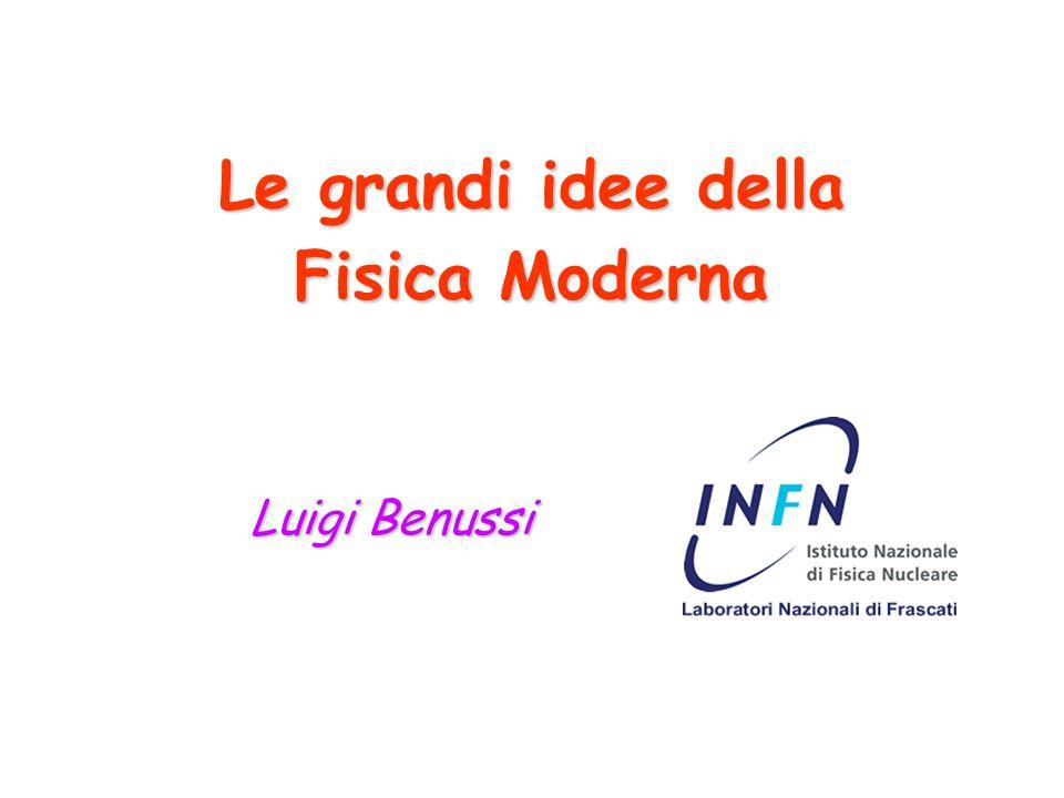 Le grandi idee della Fisica Moderna Luigi Benussi