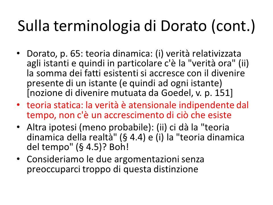 Sulla terminologia di Dorato (cont.) Dorato, p.