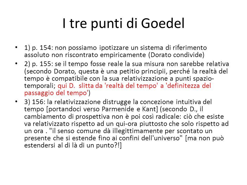 I tre punti di Goedel 1) p.