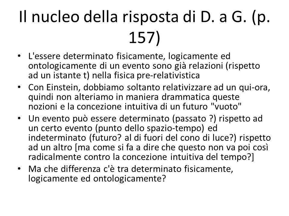 Il nucleo della risposta di D. a G. (p.