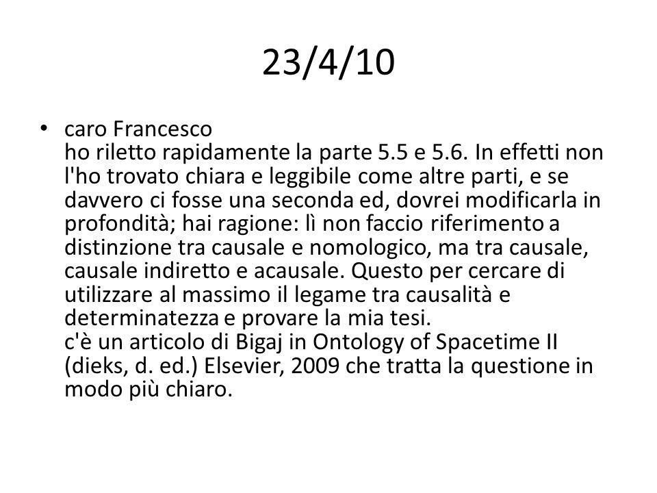 23/4/10 caro Francesco ho riletto rapidamente la parte 5.5 e 5.6.