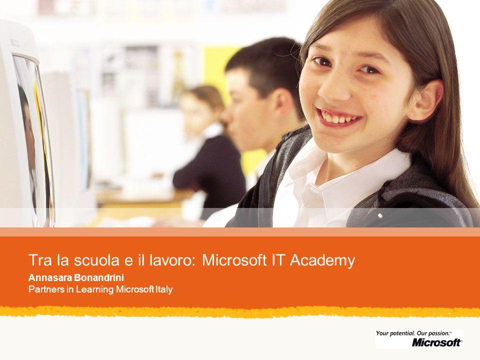 Tra la scuola e il lavoro: Microsoft IT Academy Annasara Bonandrini Partners in Learning Microsoft Italy