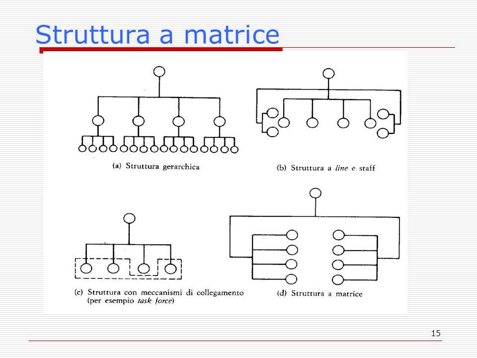 15 Struttura a matrice