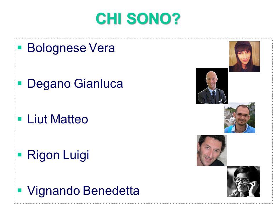 CHI SONO?  Bolognese Vera  Degano Gianluca  Liut Matteo  Rigon Luigi  Vignando Benedetta