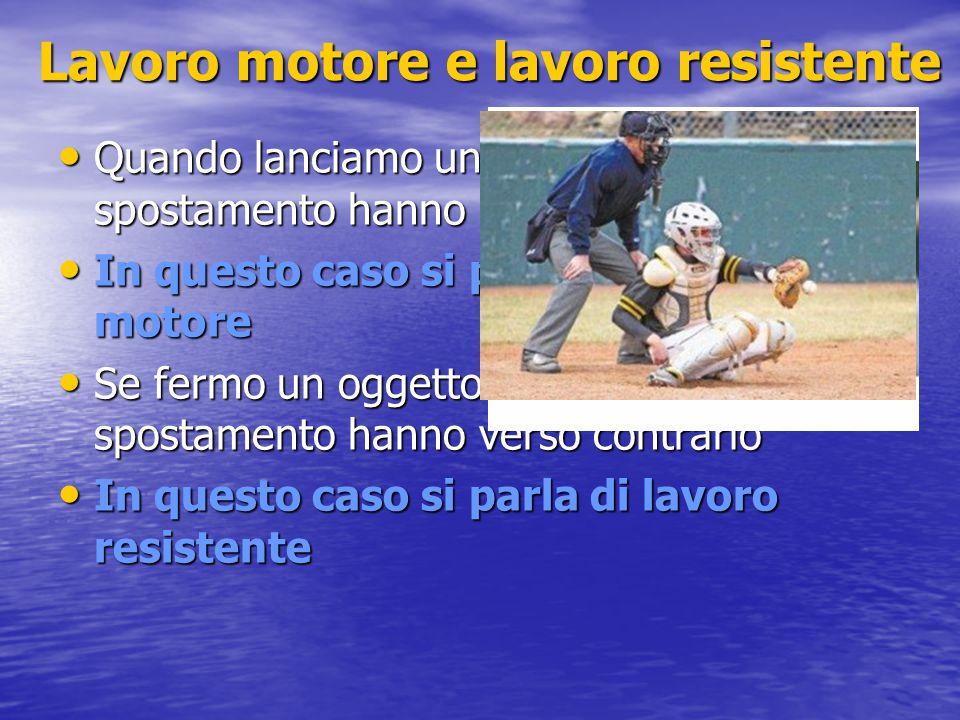 Energia potenziale elastica Per deformare un corpo elastico (es.