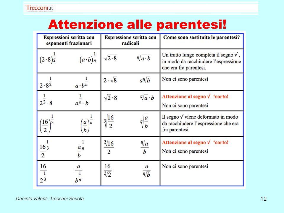 Daniela Valenti, Treccani Scuola 12 Attenzione alle parentesi!