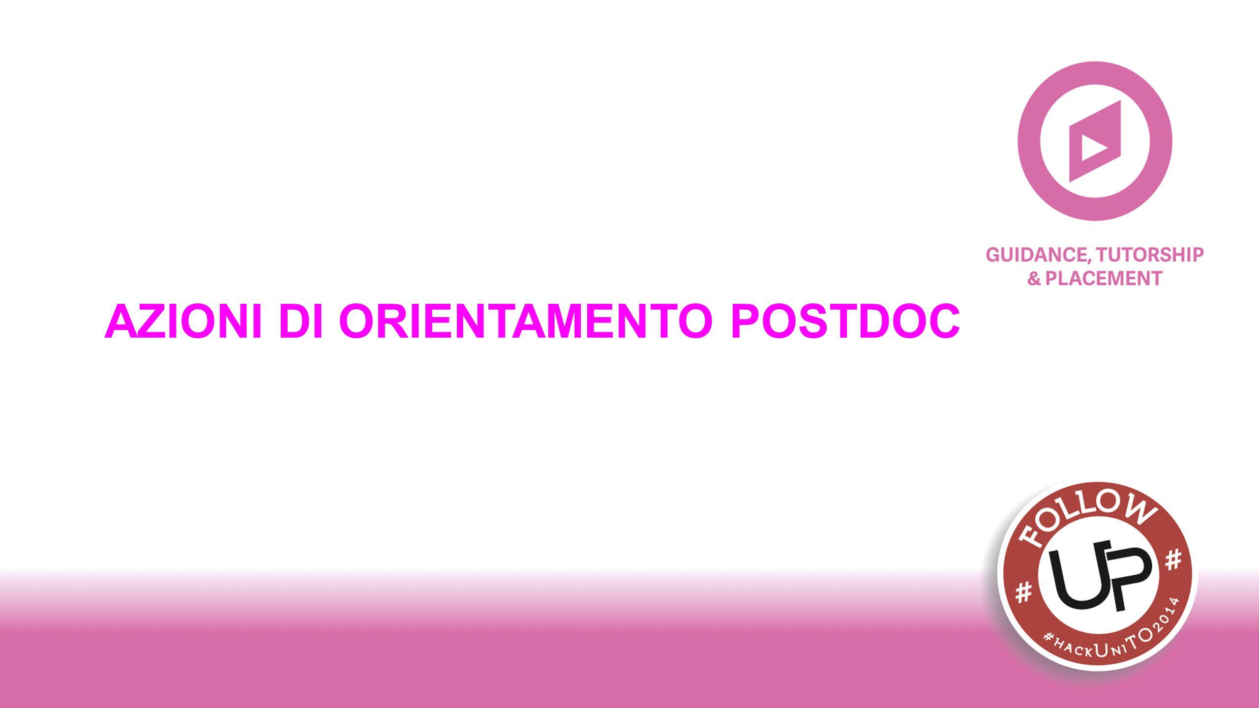 AZIONI DI ORIENTAMENTO POSTDOC