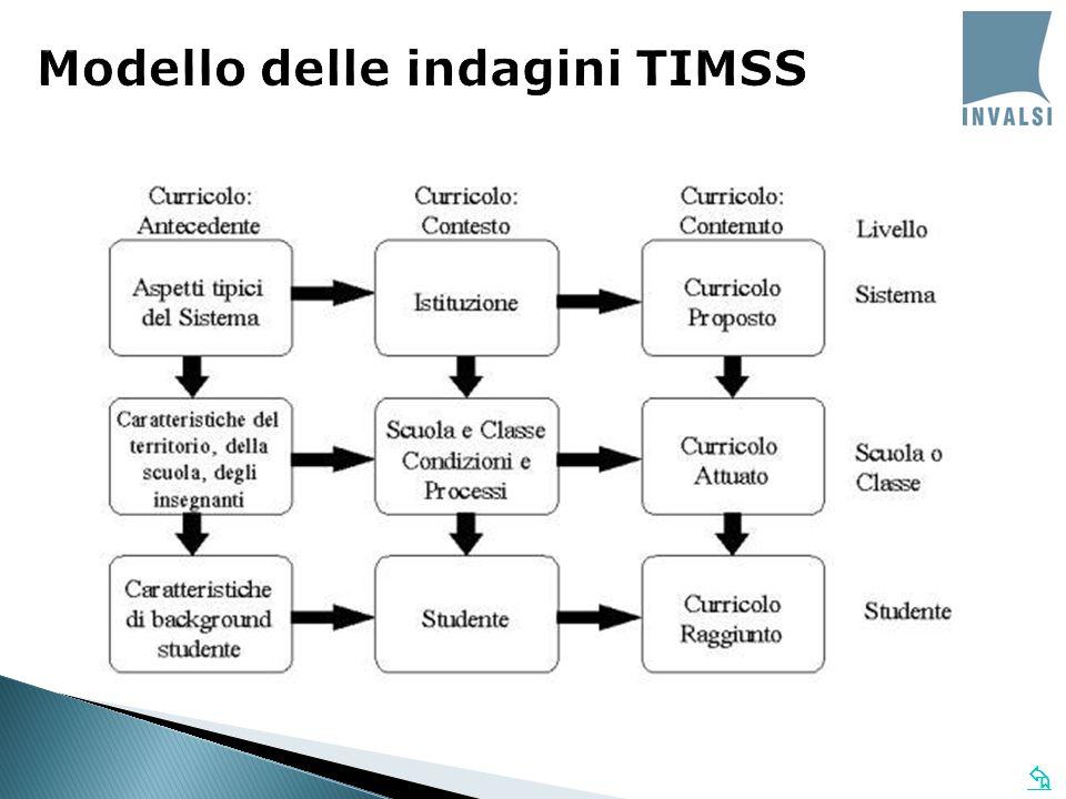  Modello delle indagini TIMSS