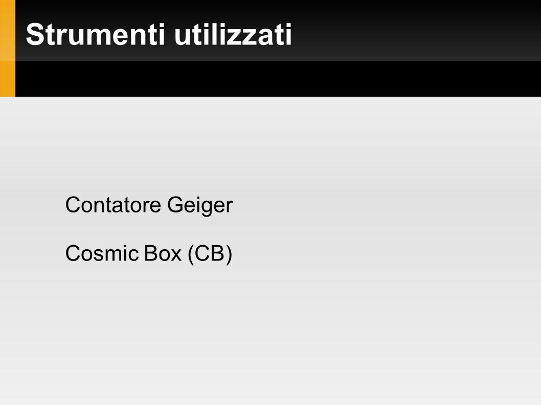 Strumenti utilizzati Contatore Geiger Cosmic Box (CB)