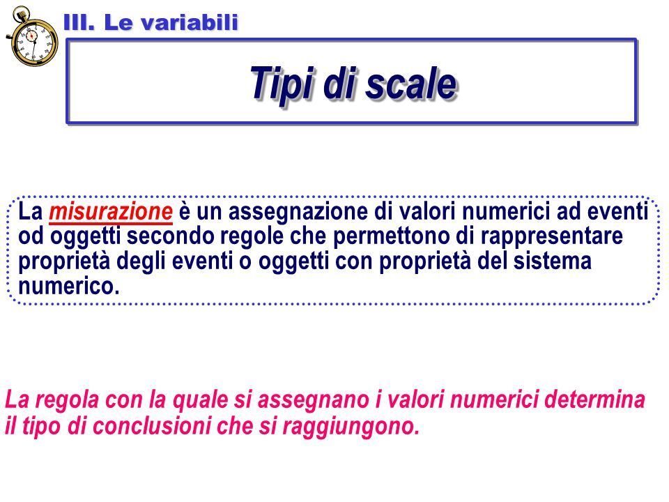 La misurazione è un assegnazione di valori numerici ad eventi od oggetti secondo regole che permettono di rappresentare proprietà degli eventi o ogget
