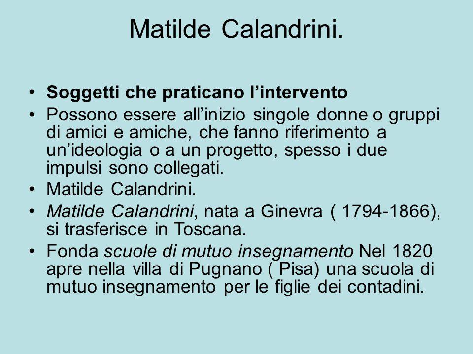 Matilde Calandrini.
