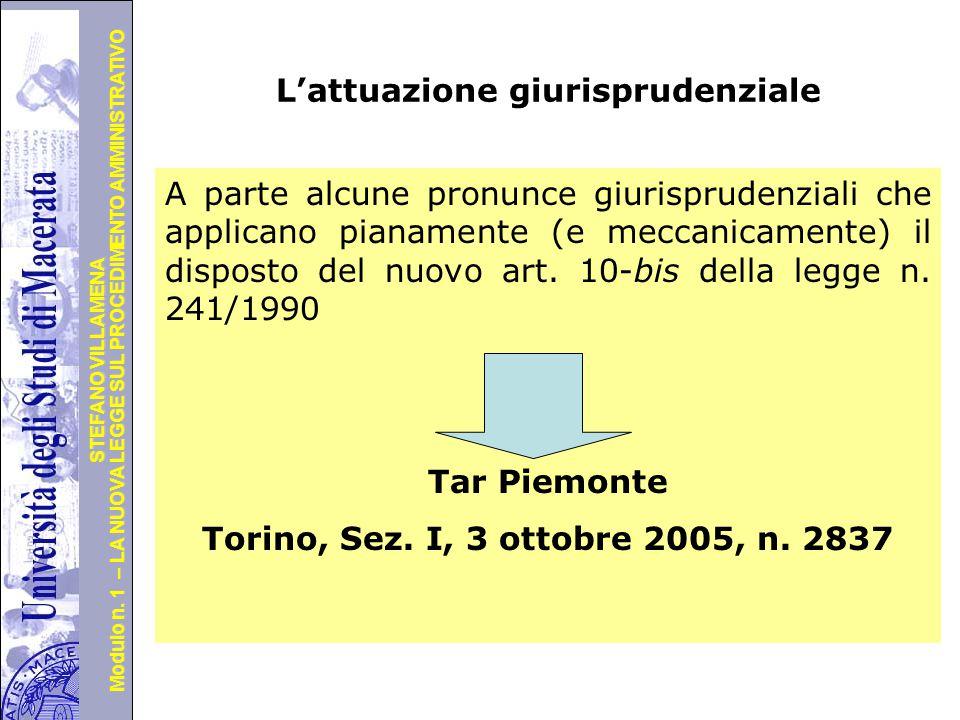 Università degli Studi di Perugia Modulo n. 1 – LA NUOVA LEGGE SUL PROCEDIMENTO AMMINISTRATIVO STEFANO VILLAMENA Segue … Oltre ciò, la disposizione pe