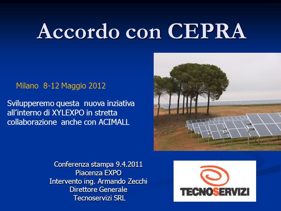 Eco Design & Production EXPO 2012 9-11 Febbraio Conferenza stampa 9.4.2011 Piacenza EXPO Intervento ing.