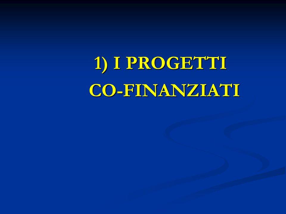 1) I PROGETTI 1) I PROGETTI CO-FINANZIATI CO-FINANZIATI