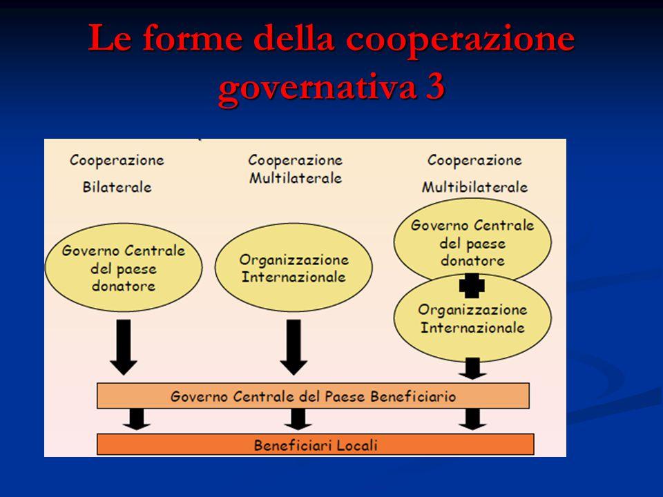 Le forme della cooperazione governativa 3