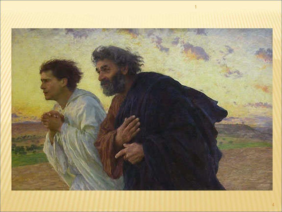 Dal Vangelo di Giovanni Era il giorno della Parasceve e i Giudei, perché i corpi non rimanessero in croce durante il sabato (era infatti un giorno solenne quel sabato), chiesero a Pilato che fossero loro spezzate le gambe e fossero portati via.