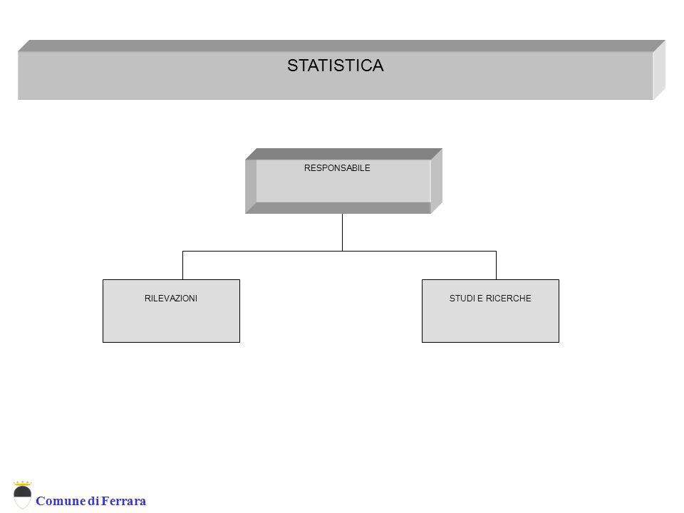 Comune di Ferrara STATISTICA RESPONSABILE Statistica STUDI E RICERCHERILEVAZIONI