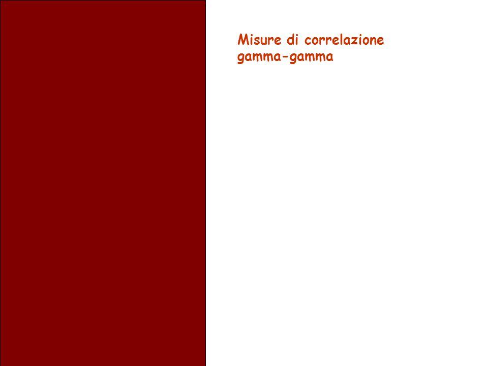 Misure di correlazione gamma-gamma