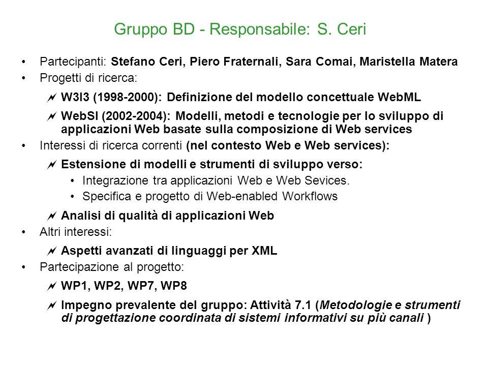 Gruppo BD - Responsabile: S.