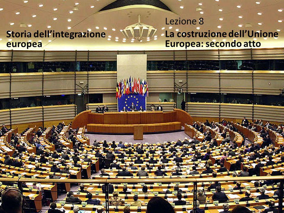Lezione 8 La costruzione dell'Unione Europea: secondo atto Storia dell'integrazione europea