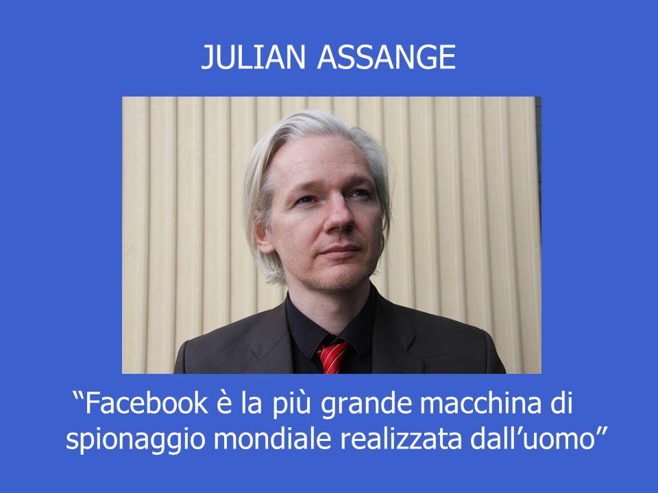 """JULIAN ASSANGE """"Facebook è la più grande macchina di spionaggio mondiale realizzata dall'uomo"""""""