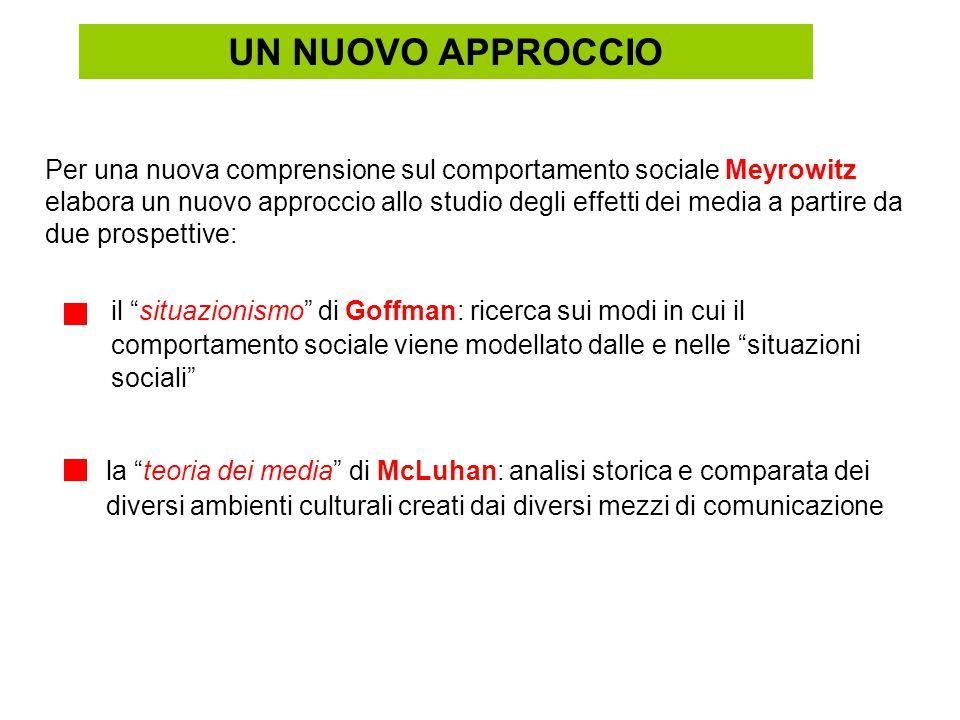 """la """"teoria dei media"""" di McLuhan: analisi storica e comparata dei diversi ambienti culturali creati dai diversi mezzi di comunicazione Per una nuova c"""