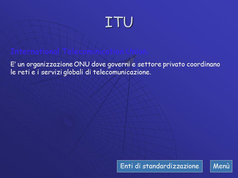 Standard ed enti di standardizzazione Gli enti di standardizzazione operano sia sull'ambito nazionale che internazionale, emettono norme e linee guida