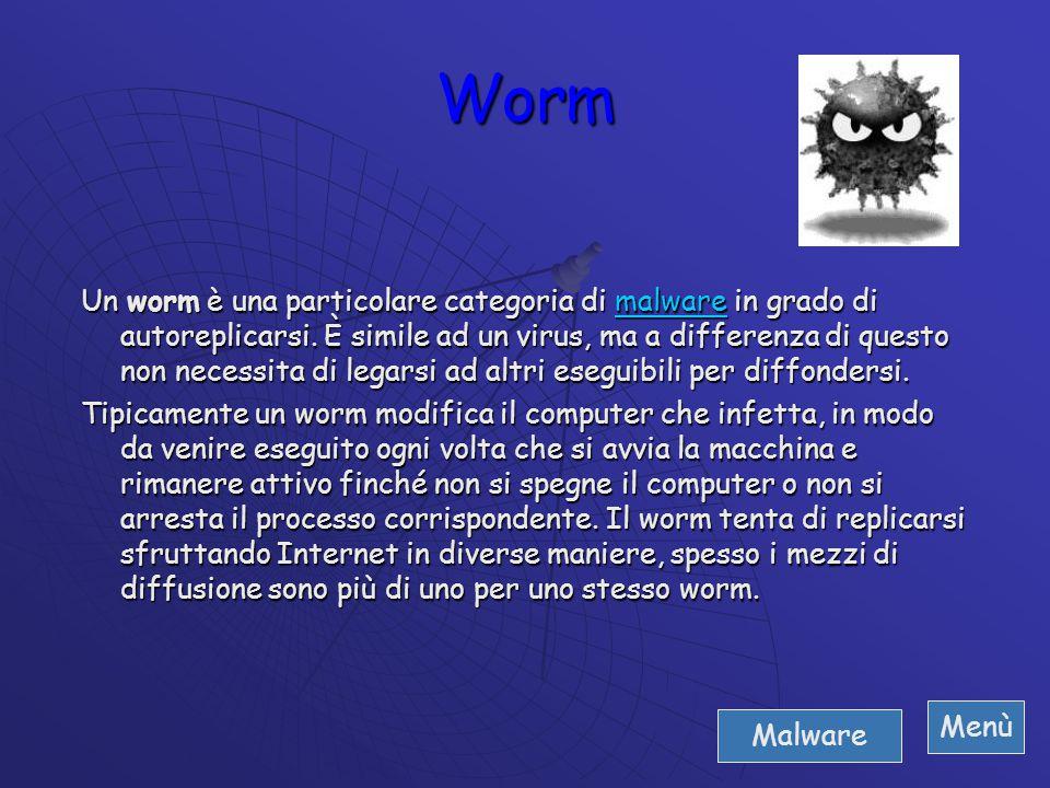 Un trojan può contenere qualsiasi tipo di istruzione maliziosa e pornografica. Spesso i trojan sono usati come veicolo alternativo ai worm e ai virus