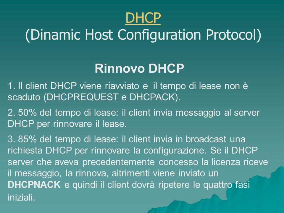 Rinnovo DHCP 1.