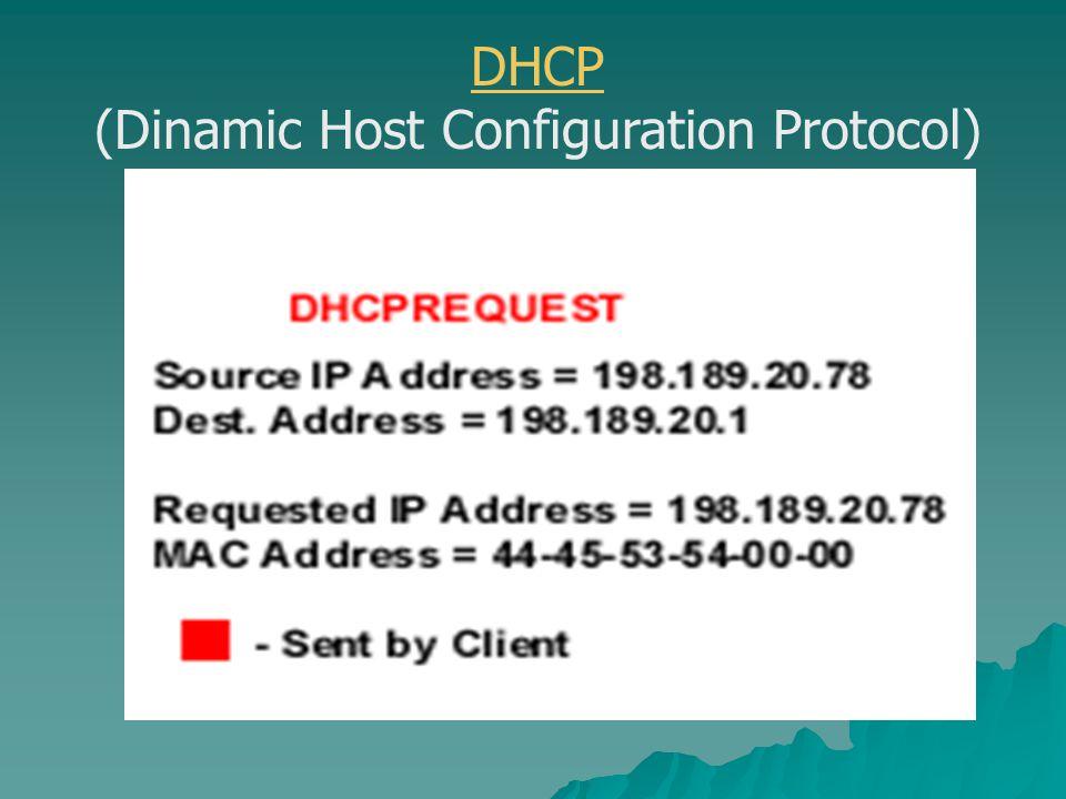 DHCPACK - Conferma di IP Il server DHCP manda un messaggio di conferma al client, contenente il valore di Lease per l IP.