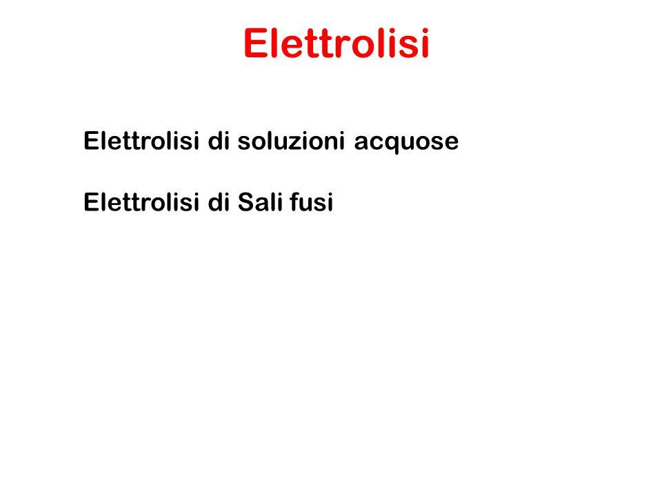 Si usa per ottenere i metalli alcalini allo stato elementare Es.