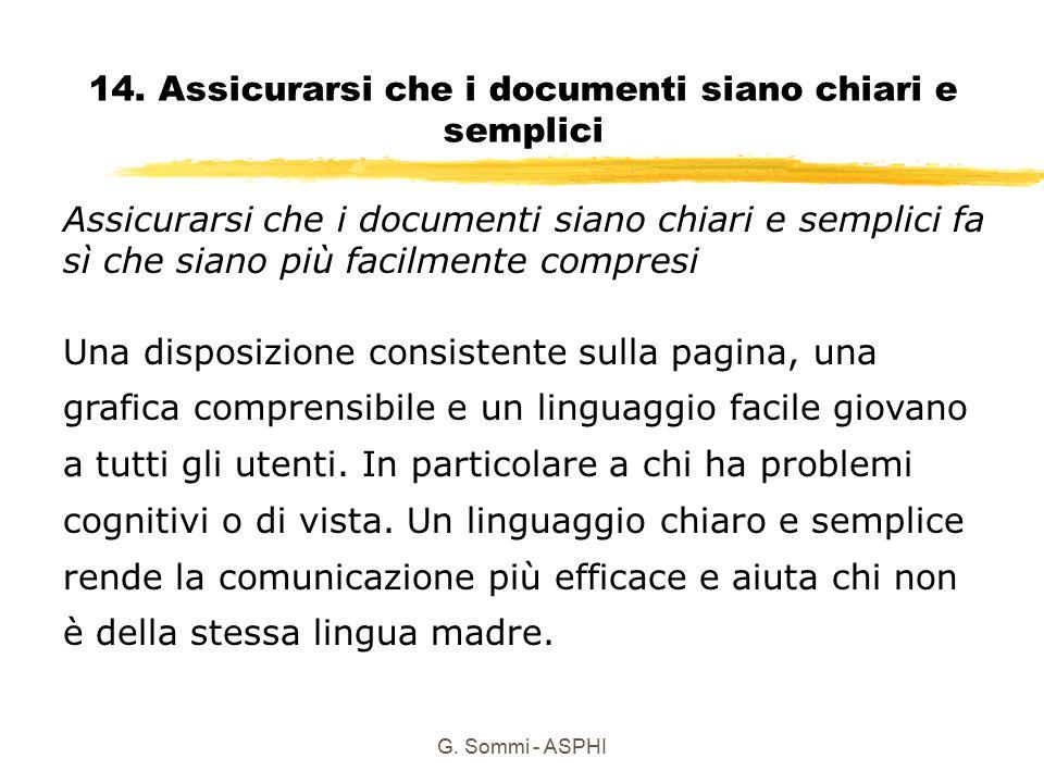 G.Sommi - ASPHI 14.