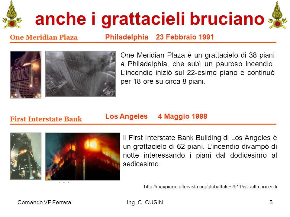 Comando VF FerraraIng. C. CUSIN5 anche i grattacieli bruciano http://maxpiano.altervista.org/globalfakes/911/wtc/altri_incendi Philadelphia 23 Febbrai