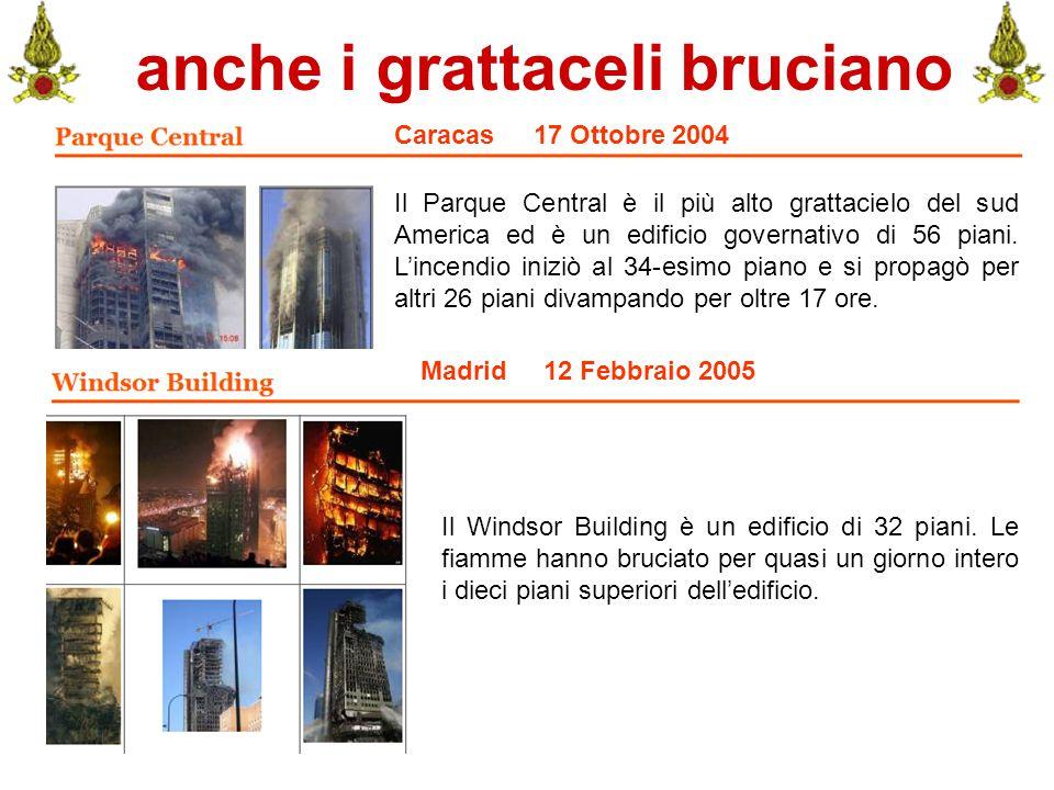 Comando VF FerraraIng. C. CUSIN6 anche i grattaceli bruciano Caracas 17 Ottobre 2004 Il Parque Central è il più alto grattacielo del sud America ed è
