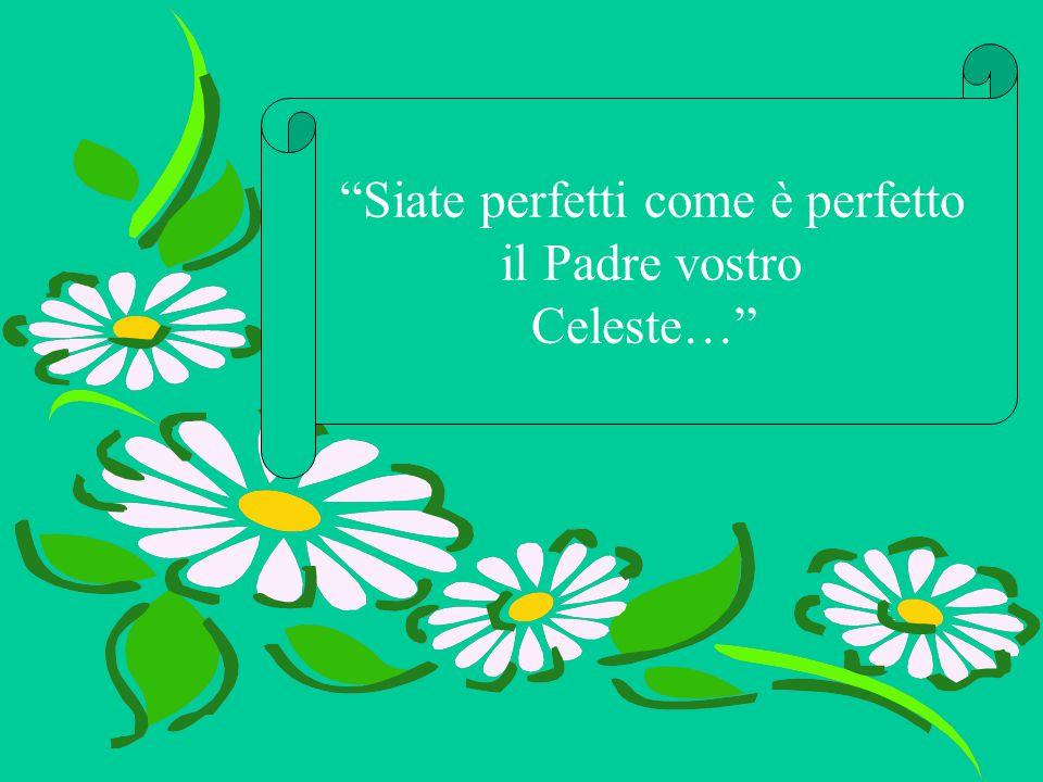 """""""Siate perfetti come è perfetto il Padre vostro Celeste…"""""""