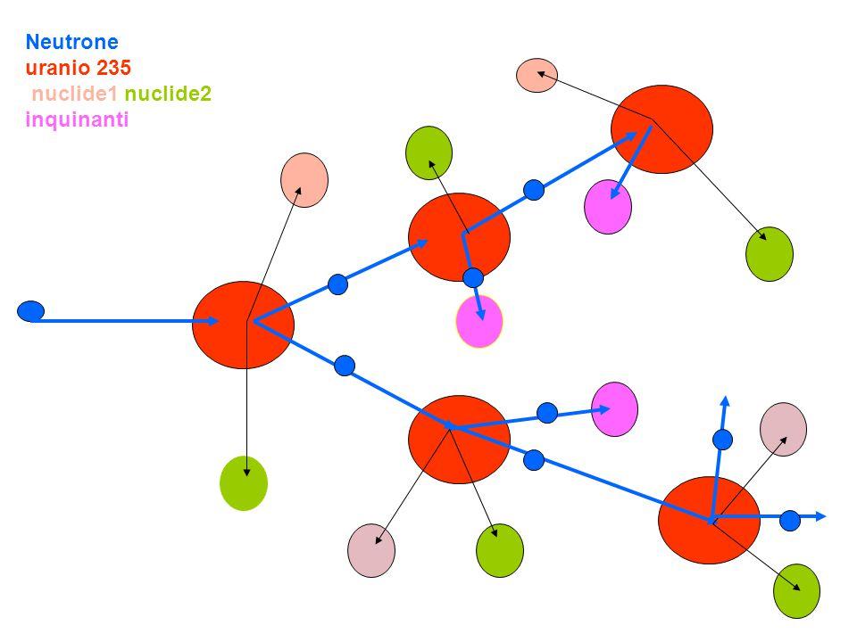 Neutrone uranio 235 nuclide1 nuclide2 inquinanti
