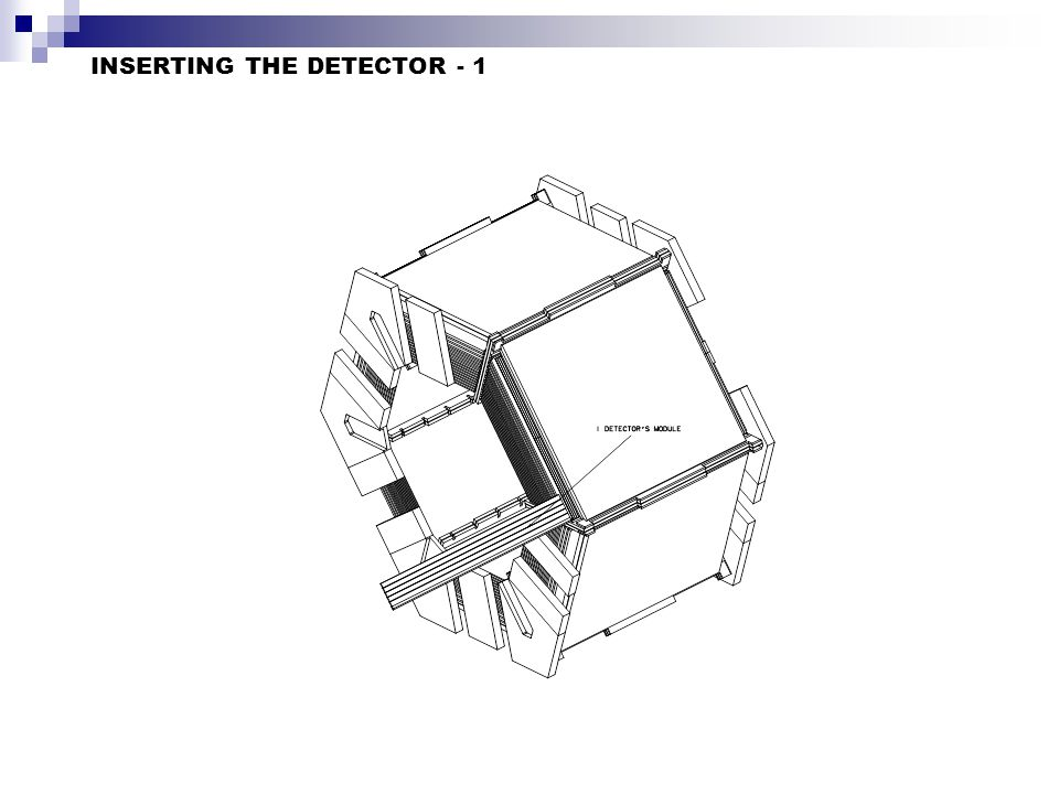 INSERTING THE DETECTOR - 1