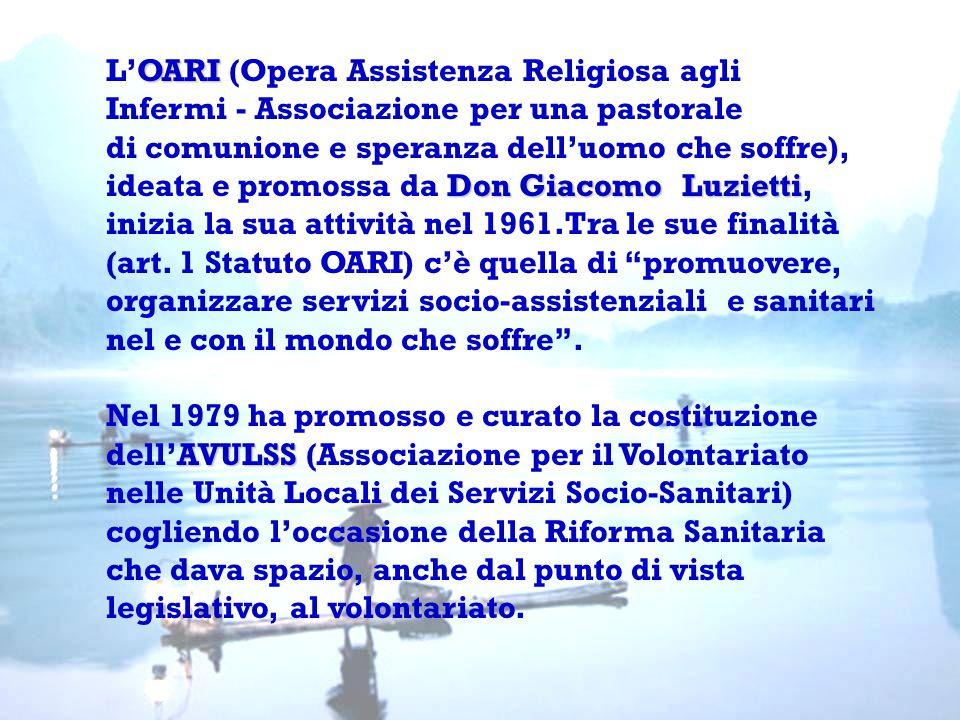 OARI L'OARI (Opera Assistenza Religiosa agli Infermi - Associazione per una pastorale di comunione e speranza dell'uomo che soffre), Don Giacomo Luzie
