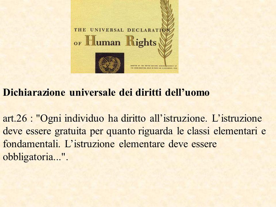 Dichiarazione universale dei diritti dell'uomo art.26 :